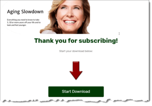 Completed Download Page