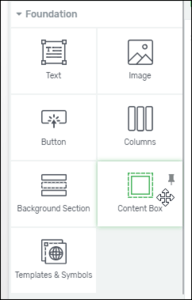 Content Box Element