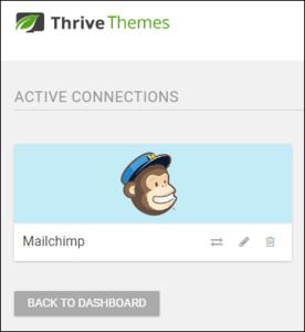MailChimp Connection Active