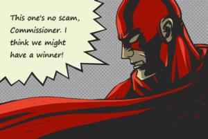 Scam Warrior Super Hero Not a Scam