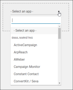 Select the App to Connect